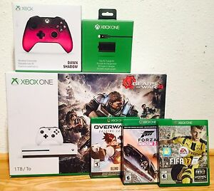 Nearly new XBOX ONE S 1 TB set with games and accessories
