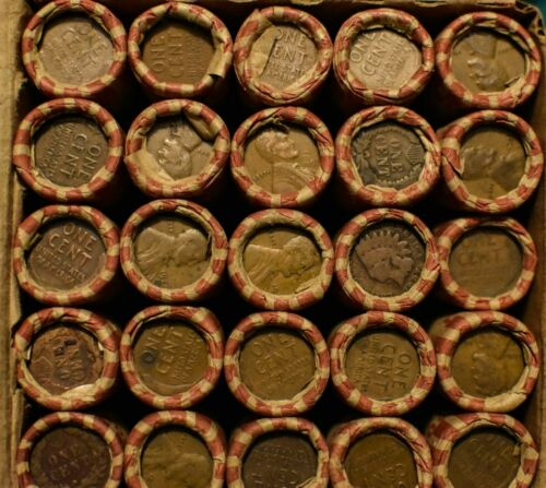 1909 to 1939 Unopened ROLL of LINCOLN WHEAT PENNIES