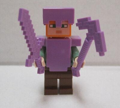 LEGO Minecraft Alex mit verzauberter Rüstung + Waffe (Figur) unbespielt  ()