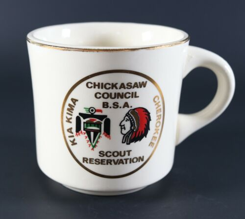 Vintage Chickasaw Kia Kima Cherokee RESERV Boy Scouts of America Coffee Mug Cup