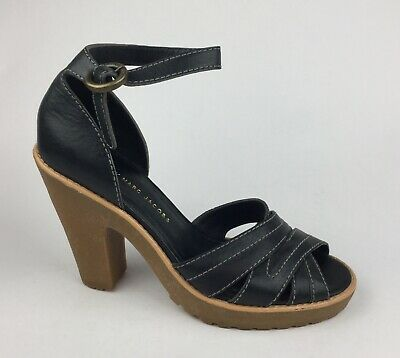 Marc by Marc Jacobs Womens Black Leather Ankle Strap Sandals Heels Sz US 9 EU 39 - Marc By Marc Jacobs Womens Ankle Strap