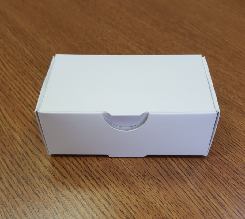 100 count White Business Card Boxes quantity 500
