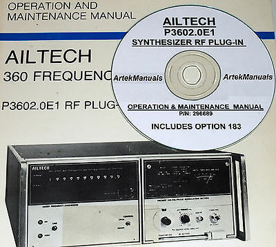 Ailtech P3602.0e1 Rf Synthesizer Plug-in Operating Service Manual