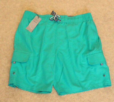 M&S Collection Size Large Swim Swimming Water Cargo Shorts Jade