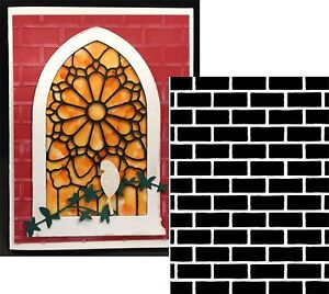 Brick Wall Pattern Embossing Folder - Darice folders 1218-108 All Occasion