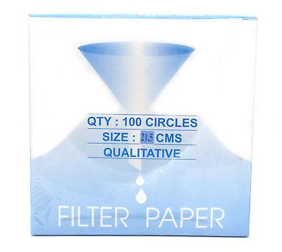 Eisco Labs Premium Qualitative Filter Paper, 21.5cm Dia., Medium Speed (85