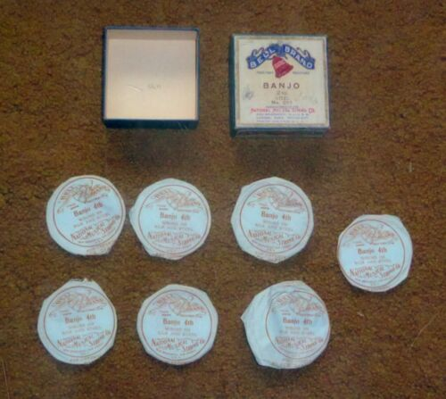 Early 1900's Bell Brand Banjo Strings in Original Box, 20 Cents Each
