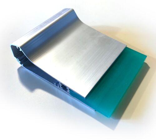 """New Ergonomic Aluminum Screen Printing Squeegee w/ 70 Durometer Blade - 4"""""""
