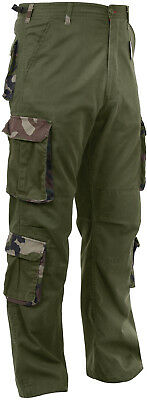 Olive Drab / Camo Vintage Paratrooper Fatigues Military Cargo BDU Pants (Olive Drab Bdu Pants)