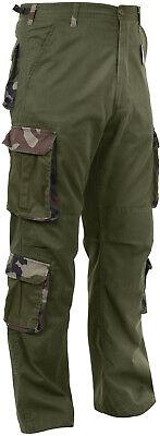 Olive Drab / Camo Vintage Paratrooper Fatigues Military Cargo BDU Pants 8-Pocket