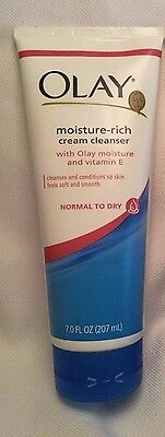 OLAY Moisture Rich CREAM CLEANSER ~ NORMAL to DRY SKIN ~ NEW !! - Olay Dry Skin Cleanser
