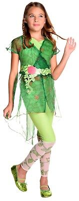 Girls DELUXE POISON IVY Superhero DC Comic Halloween Fancy Dress Costume Book Wk