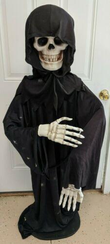 "70"" Halloween Animated Grim Reaper Figure Prop & Original Box Decor Horror Rare"