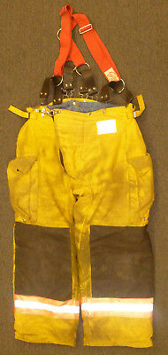 40x28 Pants Firefighter Turnout Bunker Fire Gear Morning Pride Suspenders P905