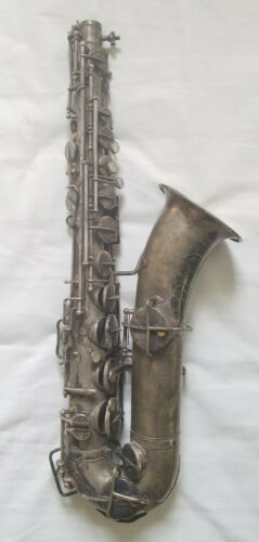 Martin 1923 Silver Low Pitch Handcraft Saxophone Elkhart IN 29972 C Melody