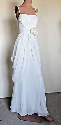 Bee Darlin White Goddess Costume Maxi Dress sz 9/10