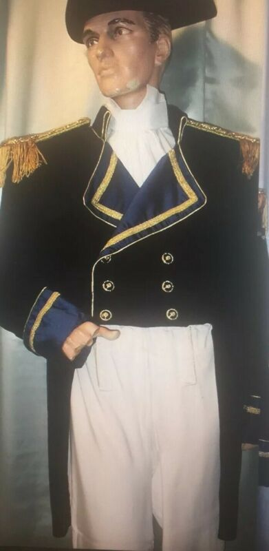 Custom Handmade Men's 18th Century General Napoleon Costume With Hat Size XL