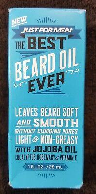 Just For Men THE BEST BEARD OIL EVER ~ Light & Non-Greasy ~ 1 oz
