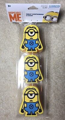 Despicable Me Minion Halloween Easter Eggs Treat Container Party Favor 3ct  - Halloween Plastic Eggs