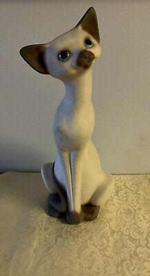 "Vintage 1958 Freeman-McFarlin Pottery - Siamese Sitting Cat - 14.5"" Tall"