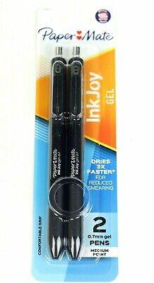 Lot Of 10 - Paper Mate Inkjoy Retractable Gel Pens Medium 0.7mm Black 2-pack