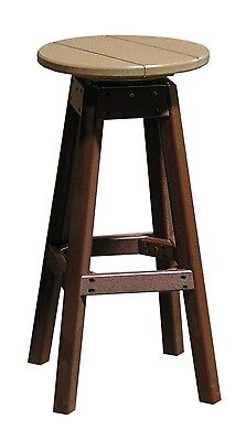 Outdoor Bar Stool - Multiple Poly Lumber Colors - Recycled -