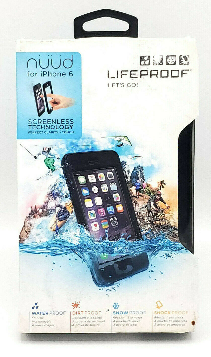 iPhone 6S Lifeproof Nuud Waterproof Case Tempered Glass