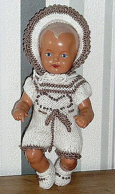 3-tlges Set : Overall Mütze Schuhe SK Strampelchen , Baby  Puppen 15-16 cm  neu