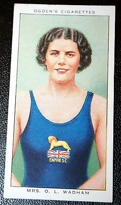 Vintage Womens Swimming Champion Card  VGC