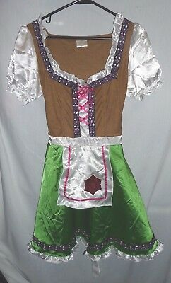 Gretchen German Beer Maid Wench Oktoberfest Adult Halloween Costume Dress Size M](Target Halloween Costumes For Women)