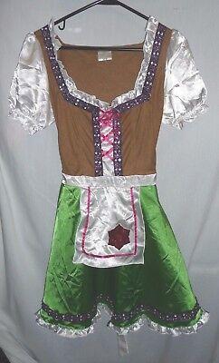 Gretchen German Beer Maid Wench Oktoberfest Adult Halloween Costume Dress Size M - Halloween Beer Wench Costume