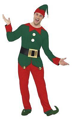 SMIFFY 31993 Kobold Weihnachtshelfer Elfe Herren Kostüm Weihnachten - Männlich Weihnachten Kostüm