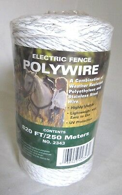 820 Feet 250 Meters White Polywire Electric Fence By Dare 2343