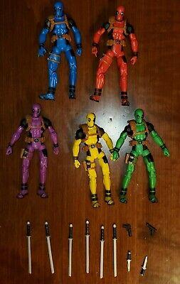 Marvel Legends DEADPOOL Rainbow 5 Pack 3 3/4 Inch Figures - Loose