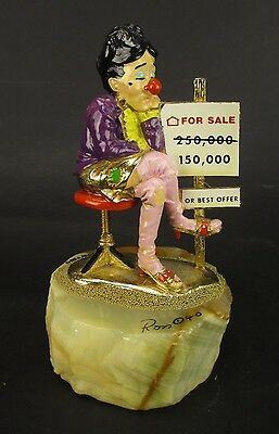 Vintage Ron Lee Real Estate Lady Clown Signed 1990