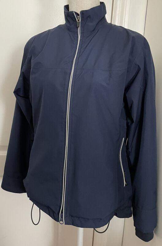 Zero Restriction ZR Women's S Gore-Tex Navy Blue Golf Full Zip Jacket