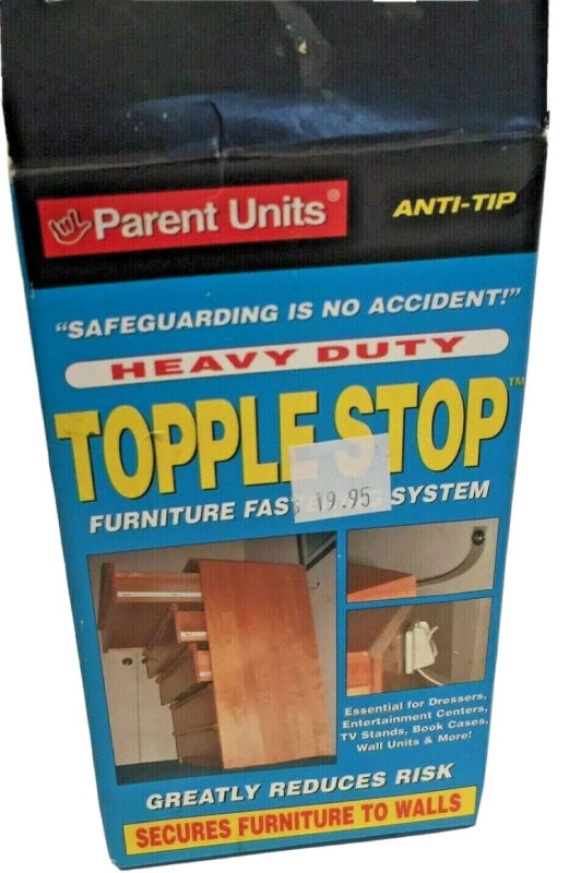 Topple Stop Furniture Fastening System Kids Safety Heavy Duty Secures Furniture