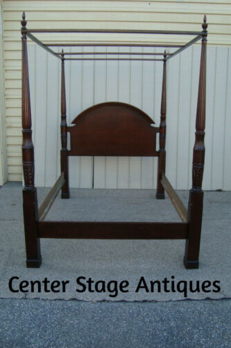 60143 Mahogany Poster Bed with Canopy