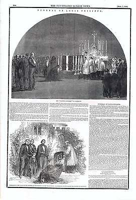 1850 The Funeral Of Louis Philippe Claremont