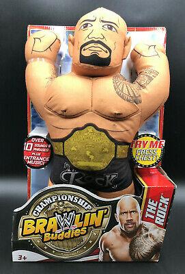 Brawlin' Buddies THE ROCK Championship PLUSH Wrestling WWE Mattel 2013 NIP NOS