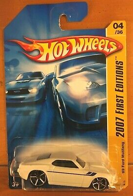 Hot Wheels 07 New Models 1969 Ford Mustang  White