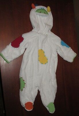 White Patchwork Multi Color Cow Costume Toddler 6 Mo Talbots Kids Halloween Used - Cow Toddler Halloween Costume