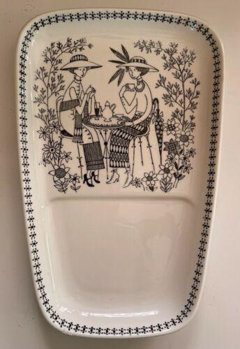 RARE Mid Century Vintage Arabia of Finland Tea Plate Emilia Pattern (1949-1964)