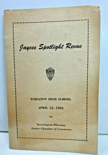 1955. Jaycee Spotlight Revue. Wheaton High School. Kensington, Maryland
