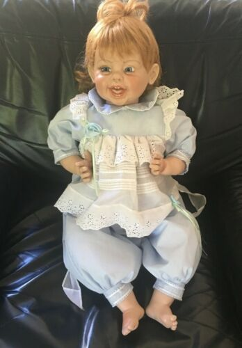 """Fayzah Spanos signed & numbered 1997  496/1500 American 28"""" inch Vinyl Doll"""