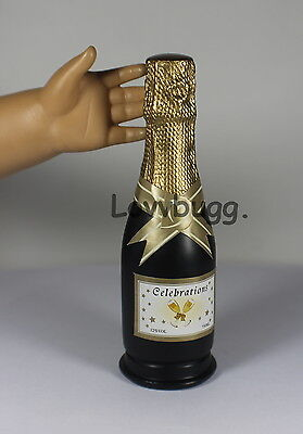 """Bottle of Champagne for 18"""" American Girl Doll Food Accessory"""
