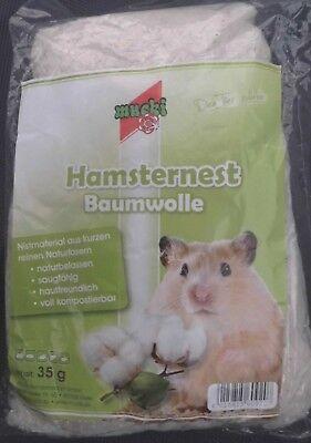 Mucki Hamsternest Baumwolle Hamster Wolle für Nager Käfige Zubehör