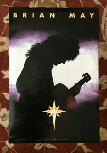 BRIAN MAY  Back To The Light  rare original promotional poster  QUEEN