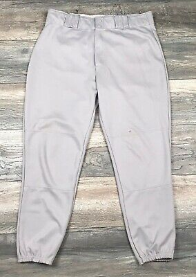 Blue Grey Elastic Waist Wilson Baseball Pants Men/'s L A4374
