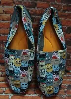 Skecher's BOB's for Cats Slip On Memory Foam Flats Ladies Sz 8.5